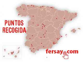 Mapa puntos de recogida Fersay