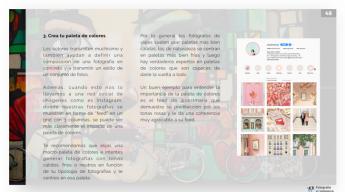 Foto de Una de las páginas de la guía