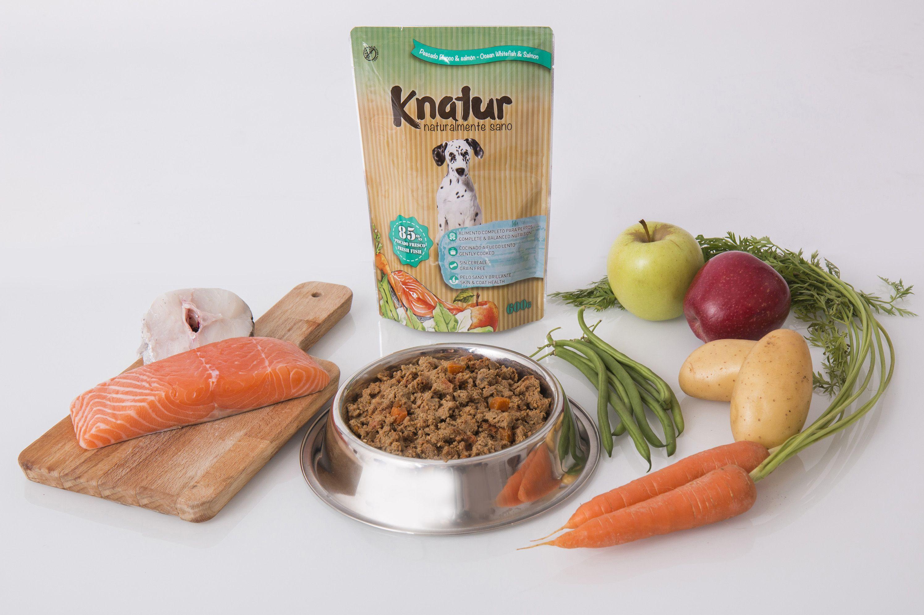 Knatur Pescado, la nueva variedad de alimentos para perros sana y natural, con un 85% de pescado fresco