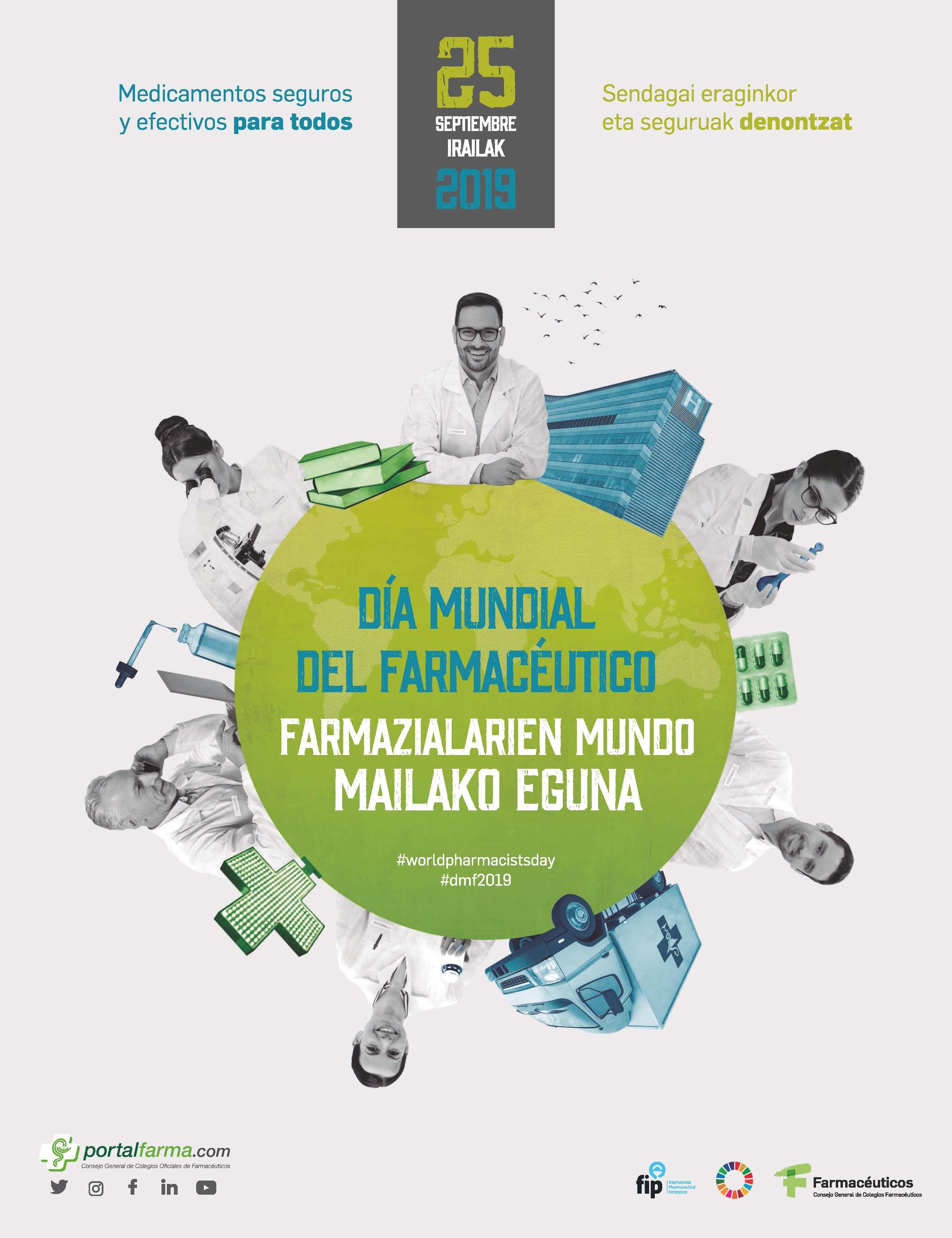 Foto de Cartel conmemorativo del Día Mundial del Farmacéutico.