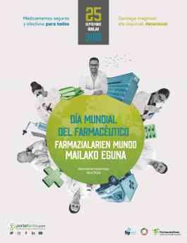Cartel conmemorativo del Día Mundial del Farmacéutico.