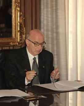 Foto de Elias Fereres, presidente de la Real Academia de Ingeniería