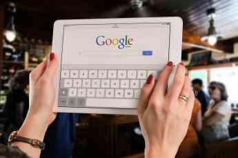 Busqueda de Google en Tablet
