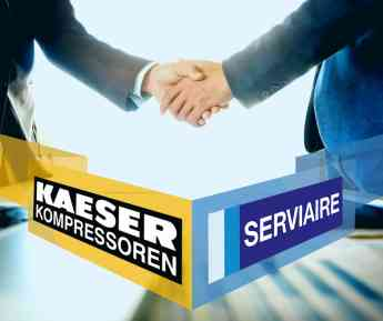 SERVIAIRE llega a un acuerdo con el fabricante alemán KAESER Kompressoren