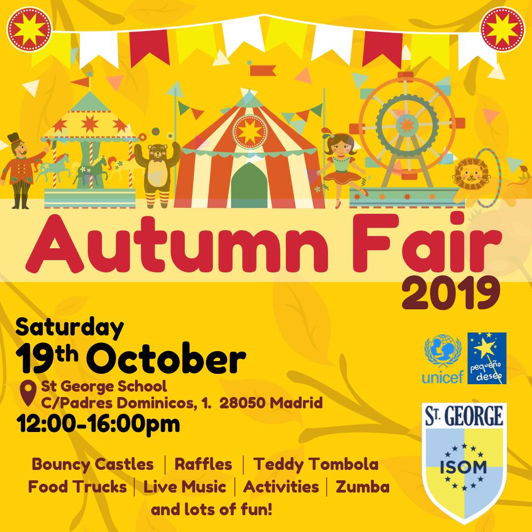 Vuelve la Autumn Fair en St. George Madrid: la feria impulsora de las actitudes socialmente responsables