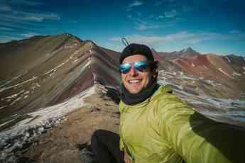 Ala Estrada en las montañas de colores de Perú
