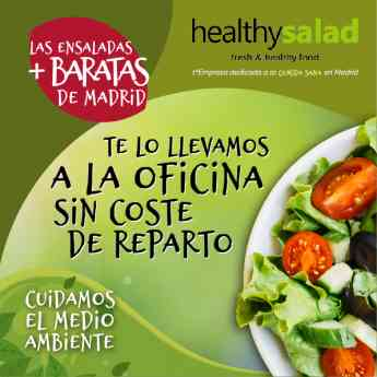 Healthy salad, la primera empresa en Madrid de reparto de ensaladas a oficinas