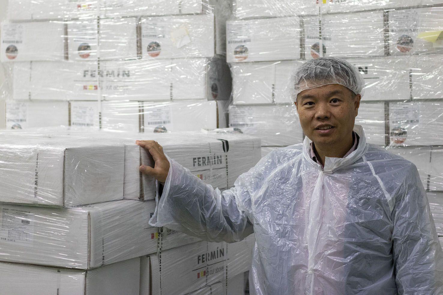 Fotografia Jamón entero en China