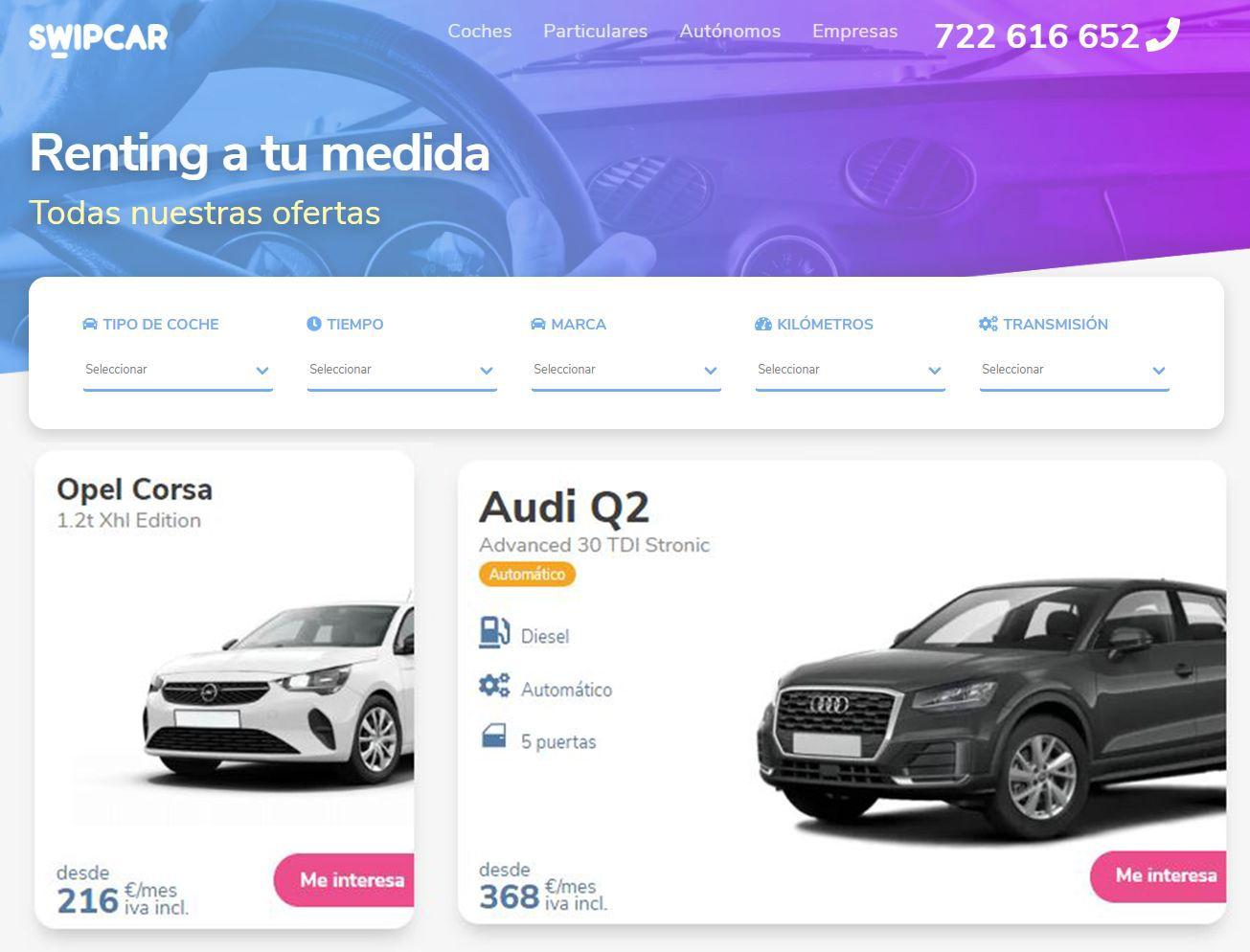 Swipcar: el marketplace destacado en coches de renting
