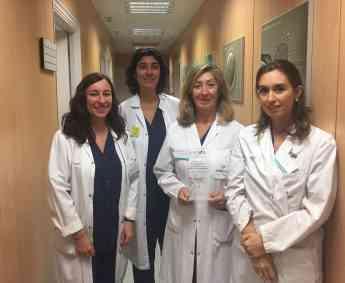 Equipo de embriólogas del Laboratorio de Reproducción Asistida del Hospital de Día Quirónsalud Donostia junto a la Directora Dra