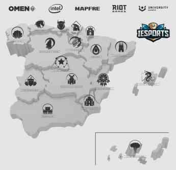 Mapa de la Liga IESports