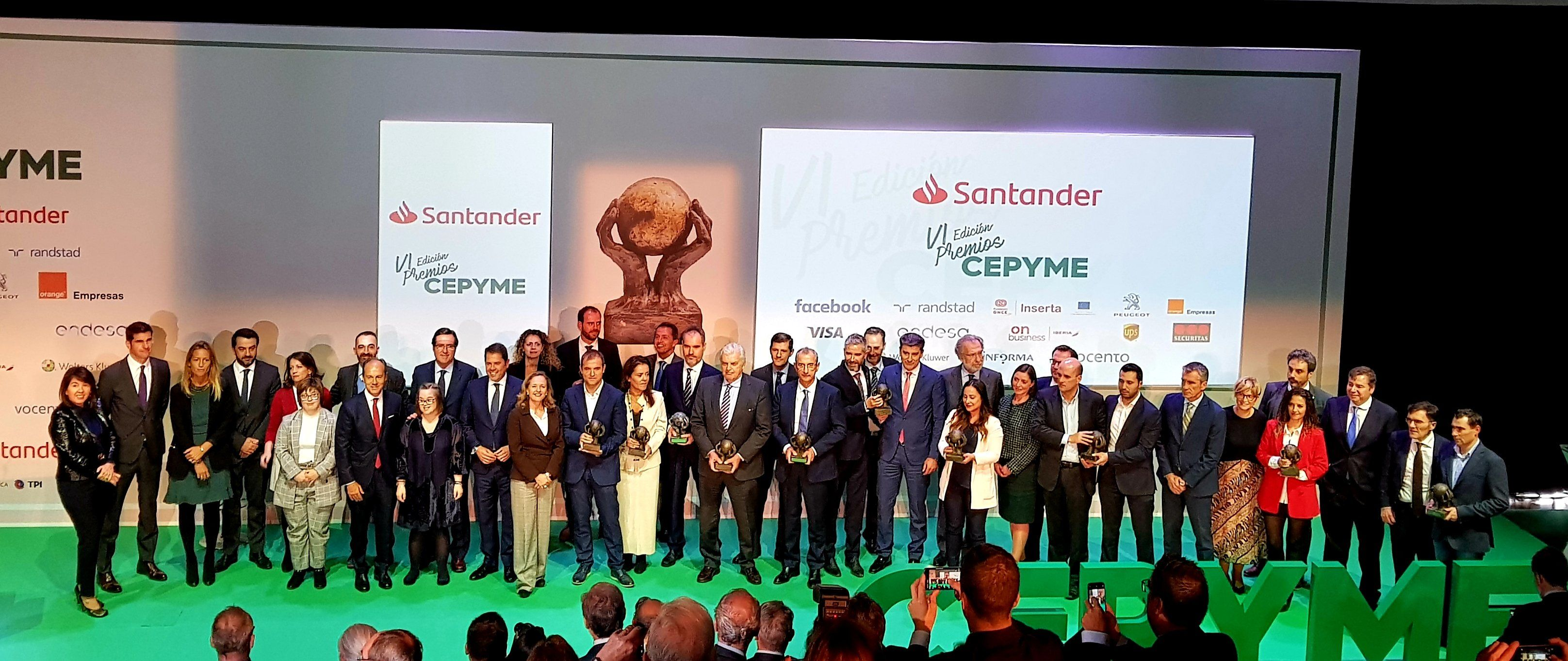 Foto de Ganadores de la VI Edición de los Premios CEPYME
