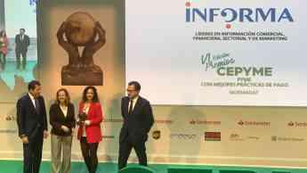 Foto de Normadat ganador VI Premios CEPYME categoría mejores
