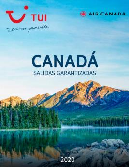 Catálogo TUI Canadá Salidas Garantizadas 2020