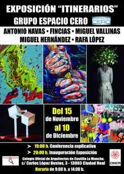 La exposición 'Itinerarios', en Colegio de Arquitectos de Ciudad Real
