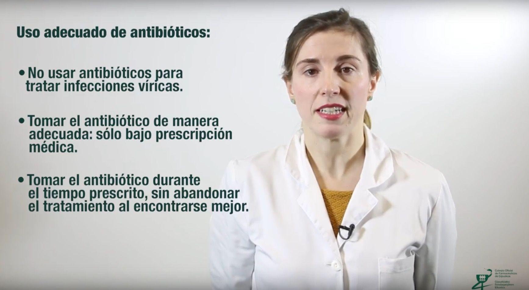 El Colegio de Farmacéuticos de Gipuzkoa recuerda la importancia del uso correcto de los antibióticos,