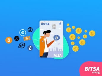 Bitsa Young, la primera tarjeta Visa crypto-friendly para Centennials