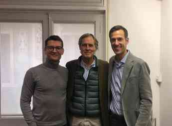Firma acuerdo Mediapost y Ofertia-Jaume Betrian, Ignacio Pi y Thomas Roggendorf