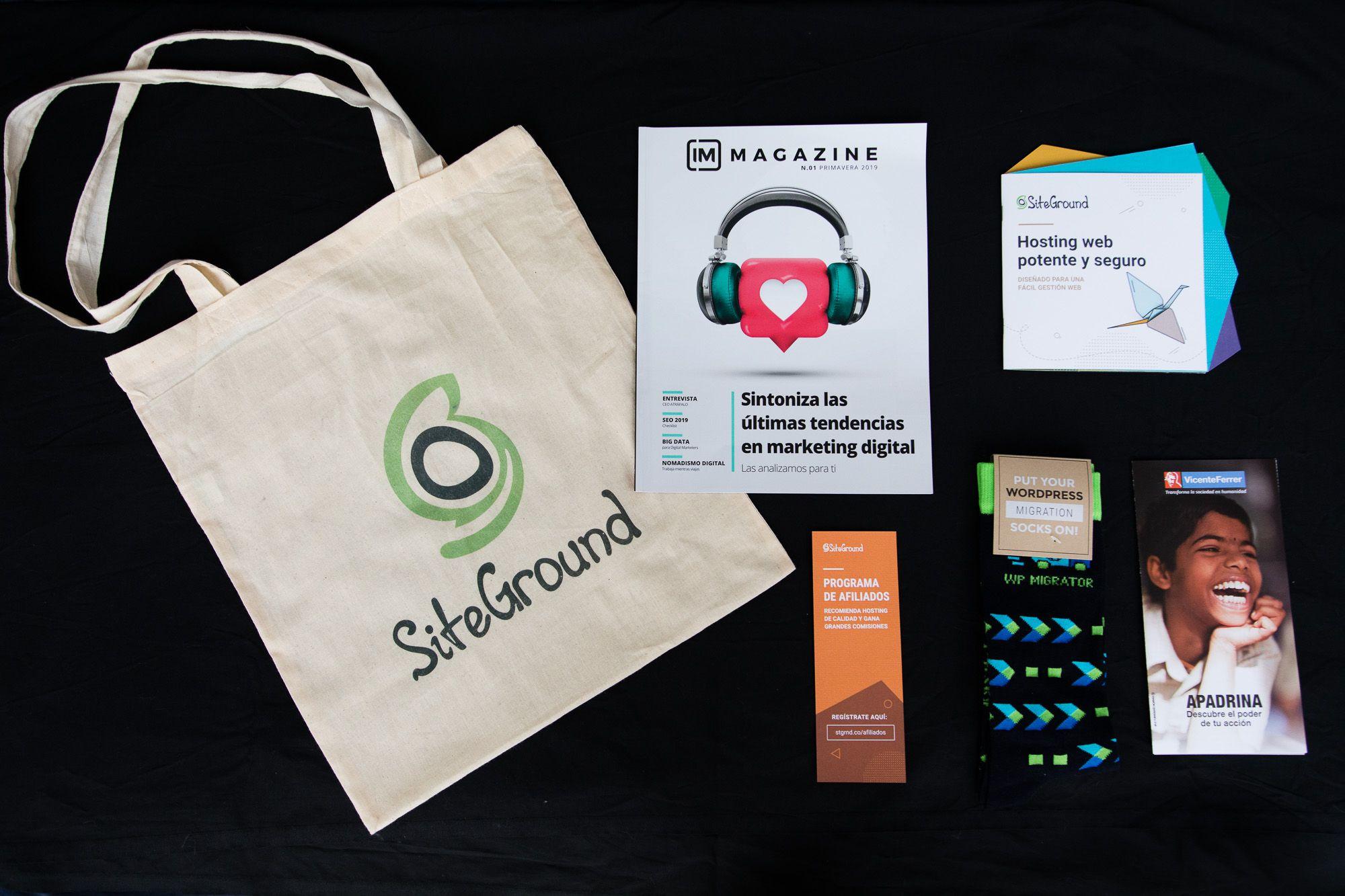 Foto de Merchandising SiteGround
