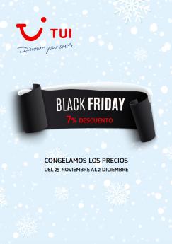TUI celebra Black Friday congelando los precios con descuentos del 7%