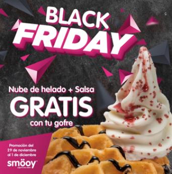 Smöoy se une al Black Friday regalando nube de helado más salsa gratis en sus gofres