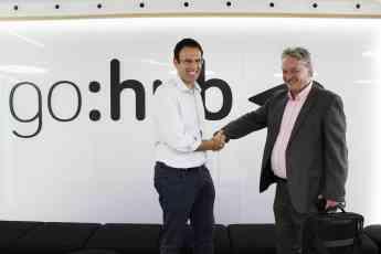 Jaime Barba (CEO GoAigua) y Mark Barker (CEO WEX)