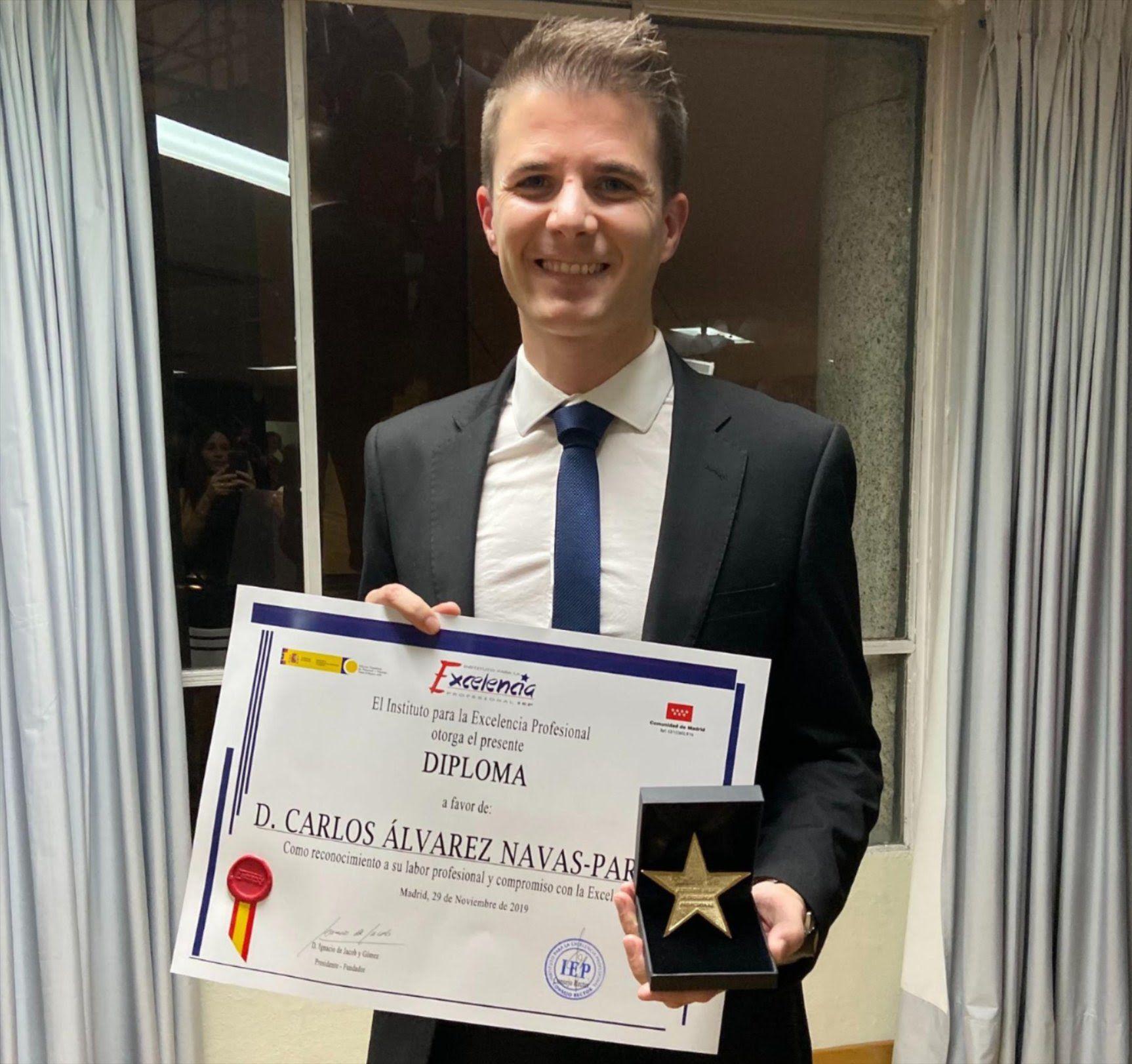 Joven empresario de Granada recibe la Estrella de Oro a la Excelencia Profesional 2019