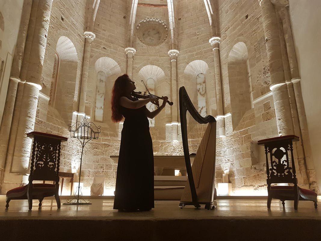 Fotografia Concierto de arpa celta en la iglesia de San Miguel.