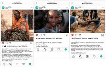 Imágenes de la campaña #RealHashags de AUARA que hacen referencia a las etiquetas de tendencia #RealOOTD (izda), #RealSelfieSund