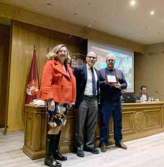 Foto de José Antonio Garrido, homenajeado por COSITAL Albacete