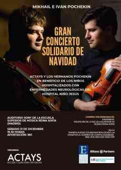 Música clásica y solidaridad de la mano del dúo Pochekin, la asociación Actays y Allianz Partners