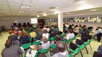 Un momento de la sesión formativa organizada por el COFG que ha tenido lugar esta mañana en San Sebastián.
