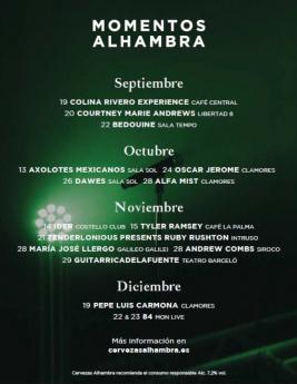CARTEL MOMENTOS ALHAMBRA
