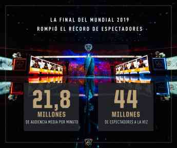 Noticias Juegos   infografía audiencias Final Worlds 2019 de LoL