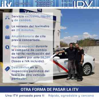 Ventajas de la inspección del taxímetro en GRUPO IDV-ITV Services