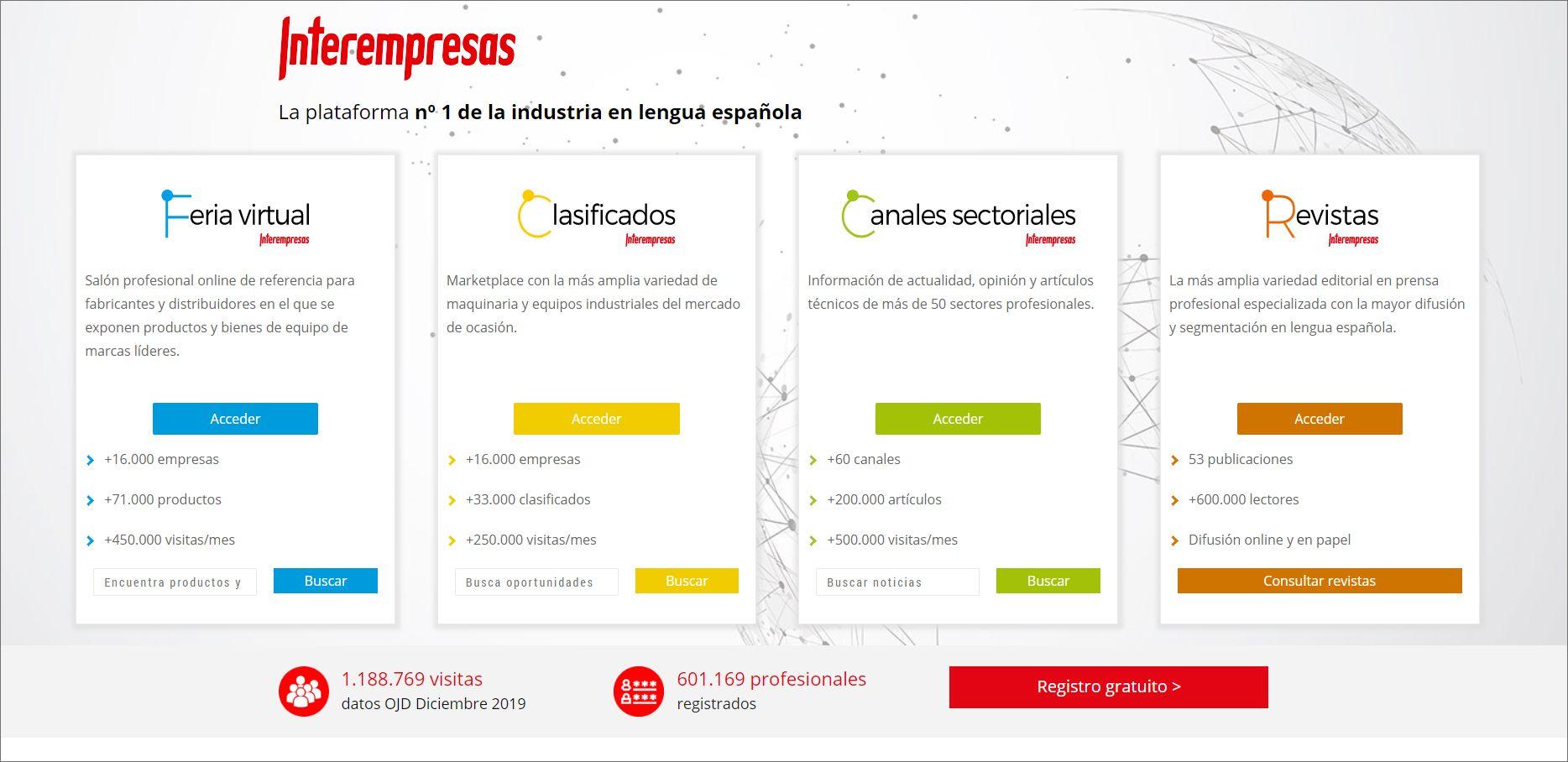 Foto de nueva plataforma digital Interempresas.net