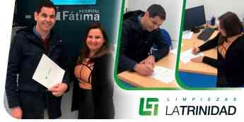 Firma acuerdo limpiezas Trinidad y Hospital Fátima