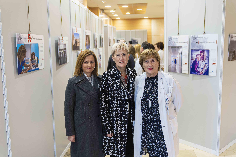 Foto de Inmaculada Moro, Pilar Lekuona y Carmen Rodríguez, en la