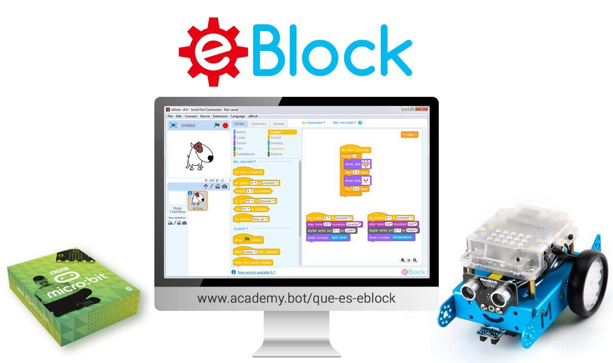 Foto de Nace eBlock, aplicación basada en mBlock 3.4 ampliada con