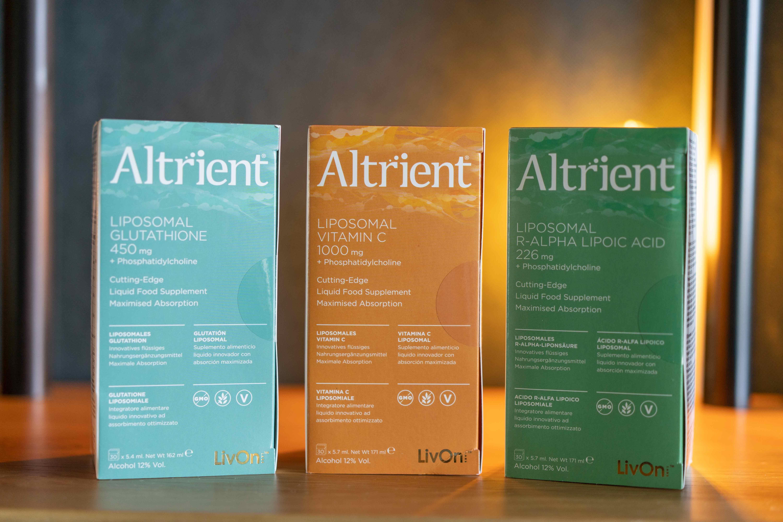 Foto de Productos Altrient (Glutatión, Vitamina C y Ácido