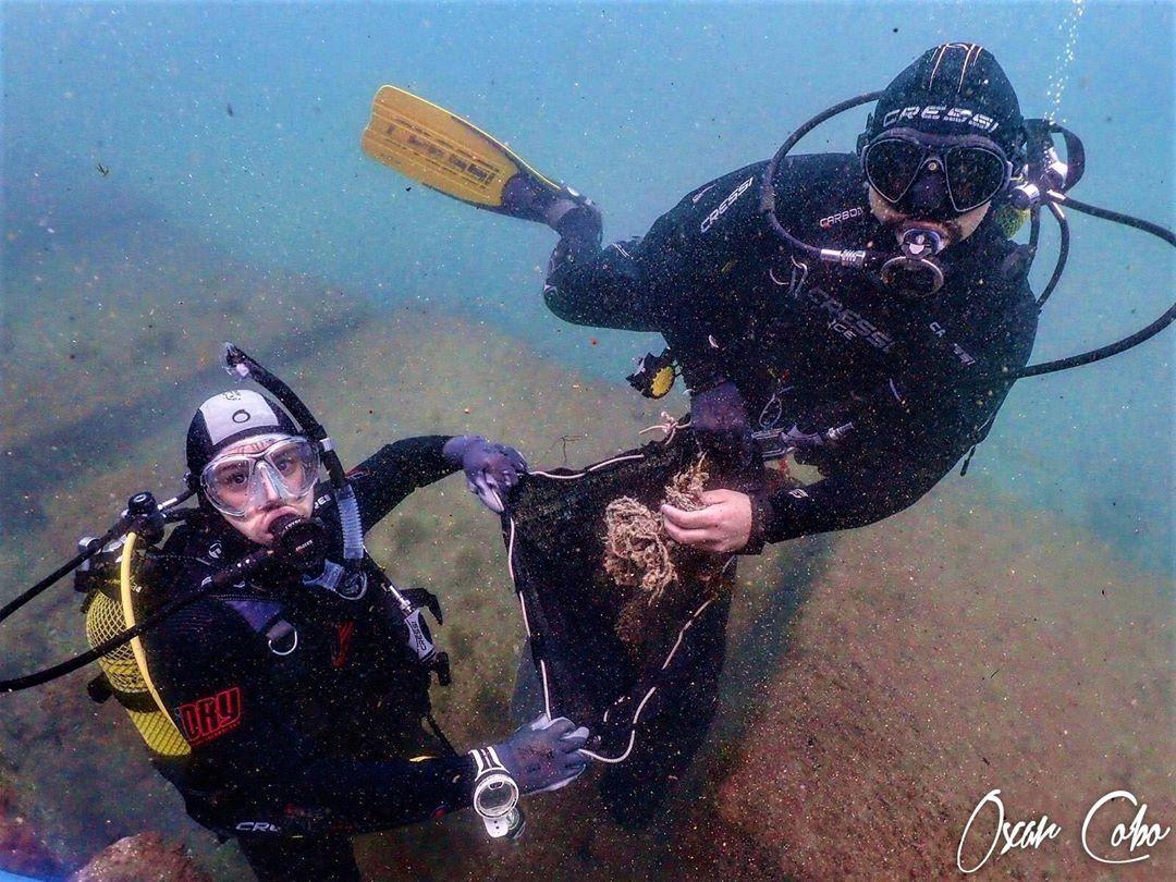 Fotografia Limpieza de fondo marino en Barcelona