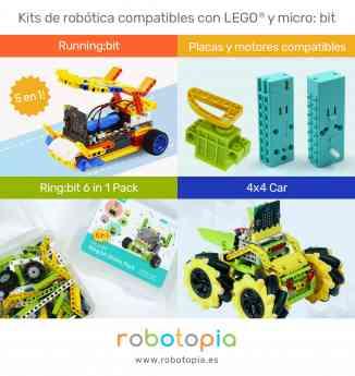 Kits de robótica compatibles con LEGO y micro:bit