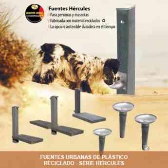 Foto de Linea de fuentes urbanas Hércules de plástico reciclado 100%