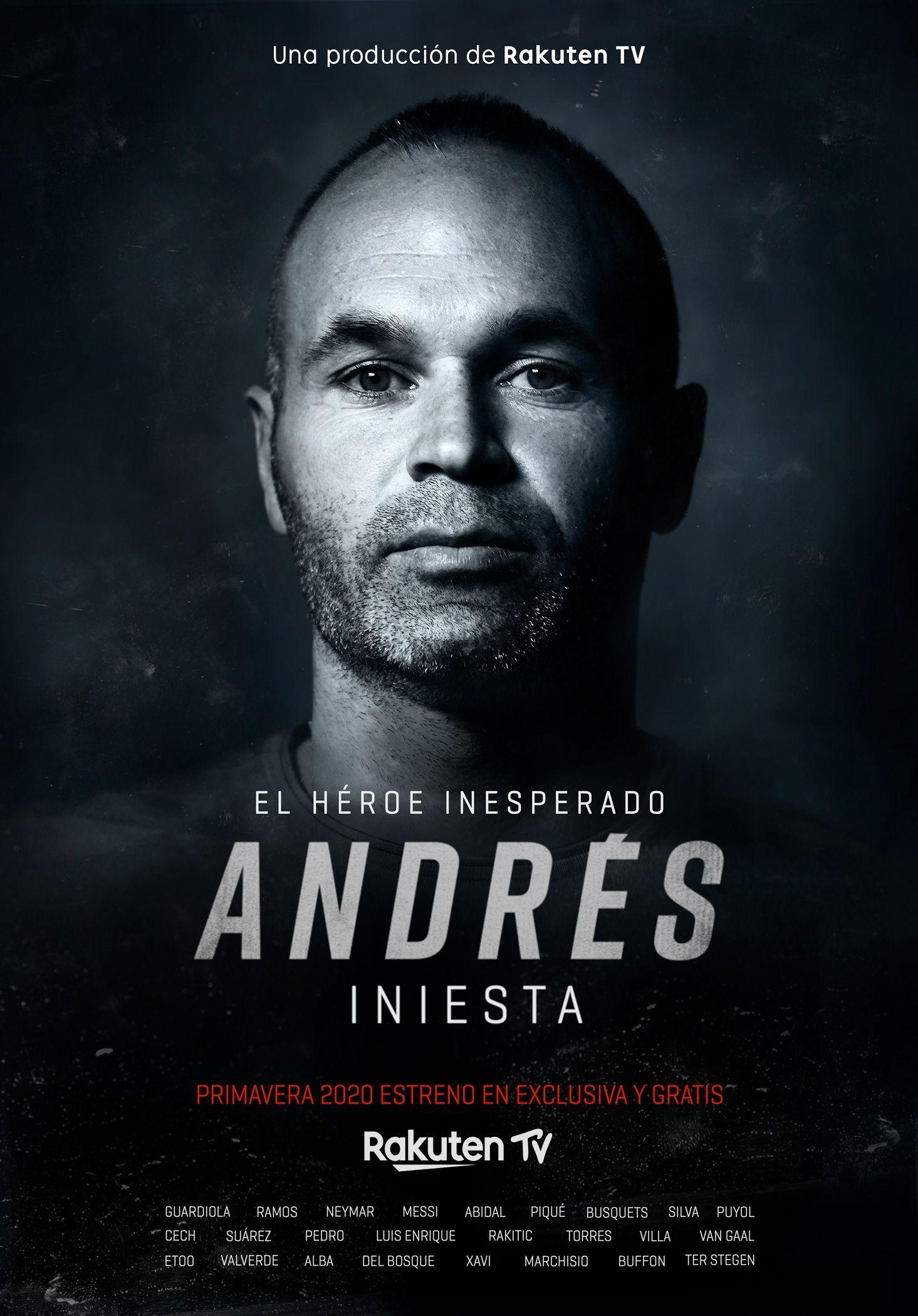 Rakuten estrenará su nuevo documental original, Andrés Iniesta – El héroe inesperado, en Rakuten TV,