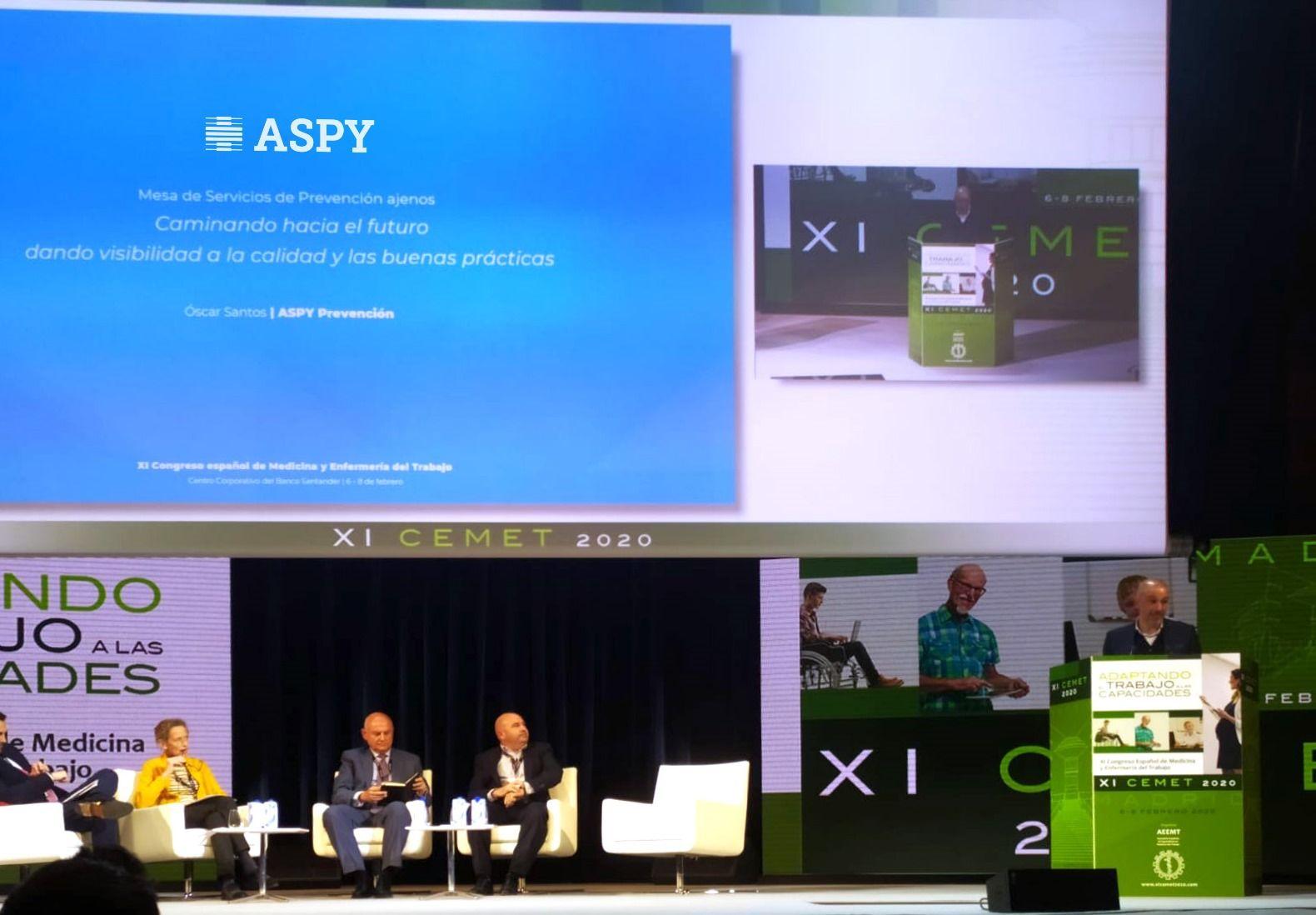 Fotografia Ponencia de Aspy Prevención durante el CEMET 2020