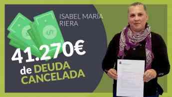 Isabel Maria Riera cliente de Repara tu deuda Abogados obtiene la