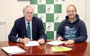 De izda. a dcha. Miguel Ángel Gastelurrutia, presidente del COFG; y Beningno Balín, presidente de Aspargi.