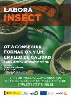 Primer curso gratuito: Cría de insectos como recurso de mejora ambiental y creación de empleos sostenibles.