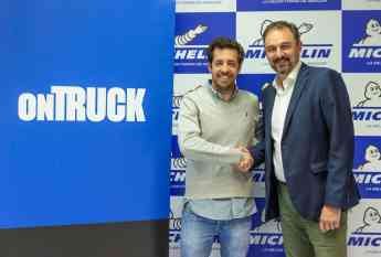 Iñigo Juantegi (izda.), CEO y cofundador de Ontruck, y Pedro Álvarez, director de Marketing de Michelin España Portugal S.A., t