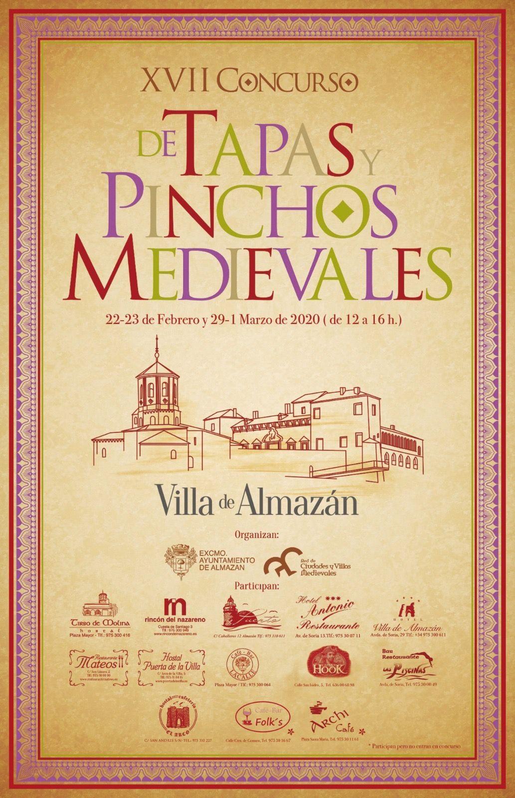 Fotografia Cartel XVII Concurso de tapas y pinchos medievales